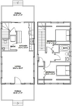 Make this a one bedroom with the ensuite above the kitchen and a large walk through closet.  PDF house plans, garage plans, & shed plans.