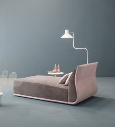 Upholstered fabric day bed DROP | Day bed - @mytwils