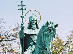 St. Stephen Day - the day after Christmas - celebrated by people with given name Stephen - Stjepan, Stipe or Štef (shtef) in Croatian (a chatolic thing) noweays only a few name days are known to majority of people - Statue of St. Stephen