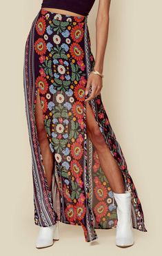 23699b6711c 8 Best maxi slit skirt images