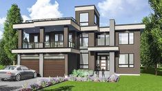 Modern House Plan with Roof Top Deck - 81683AB thumb - 29