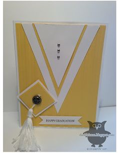 Today I have a simple graduation card to share with you. I CASED the design from Debi Pippin. I first saw her card on Sta. Graduation Cards Handmade, Handmade Birthday Cards, Graduation Ideas, Cricut Cards, Stampin Up Cards, Kids Cards, Baby Cards, Paper Cards, Creative Cards