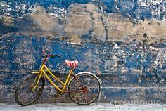 Old yellow bike Fine Art Print Photography 12x18 by MosaferPhoto, $75.00