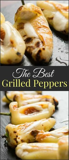 The BEST spicy, cheesy grilled peppers ohsweetbasil.com via @ohsweetbasil