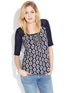 Lucky Brand Flower Diamond Top