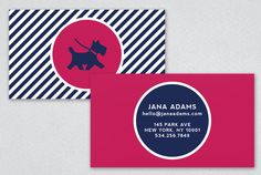Chic Dog Trainer Business Card