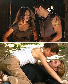 Boring good guy or exciting bad guy? My preference is probably obvious by now. Kate, Sawyer & Jack on Lost. Lets Get Lost, Lost Love, My Love, Best Tv Couples, Tv Show Couples, Serie Lost, Lost Tv Show, Josh Holloway, Matthew Fox