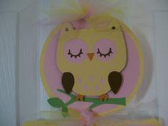 Owl Baby Girl Door Banner  Baby Girl Shower Banner by KatlinLee123,