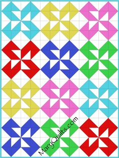 another hst pattern Quilt Block Patterns, Pattern Blocks, Quilt Blocks, Knitting Projects, Sewing Projects, Fat Quarter Quilt, Half Square Triangle Quilts, Pinwheel Quilt, Quilting Tutorials