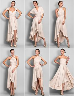 Jersey Convertible Dress : One Dress wear 6 Ways: Holiday, Party, Wedding….etc!