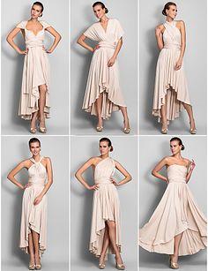 Jersey Convertible Dress : One Dress wear 6 Ways: Holiday, Party, Wedding….etc!