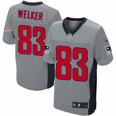 New Men s Grey Shadow NIKE Limited New England Patriots  83 Wes Welker NFL  Jersey  a5b444b74