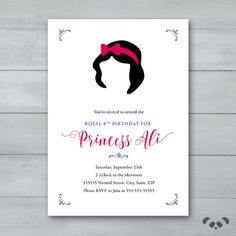 Snow White Birthday Party Invitation    by PandafunkCreations