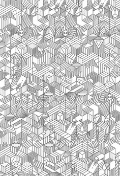 Creative Geometric, Illustration, Nvlnvl, Pattern, and White image ideas & inspiration on Designspiration Pattern Texture, Surface Pattern, Pattern Art, Pattern Design, Geometric Designs, Geometric Art, Geometric Patterns, Geometric Wallpaper, Graphic Patterns
