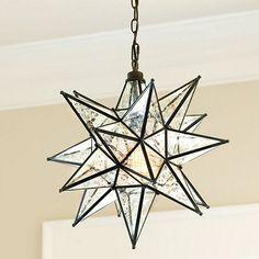 Moravian Star Pendant Mercury Glass - modern - pendant lighting - - by Ballard Designs  sc 1 st  Pinterest & outdoor christmas star light | ... Star Hanging Christmas Light ... azcodes.com