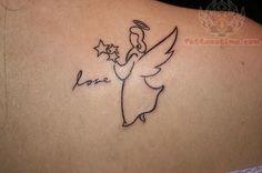 Love Tattoo On Back
