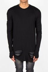 Tričko T-Shirt Long Sleeves Black