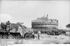 #Rome, 1944 - Castel Sant Angelo #Italy #WWII