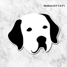 Labrador Dog Vinyl Sticker, 3 Sizes (S, M, L) Removable Stickers, Waterproof Stickers, Vinyl Die-cut Labrador Sticker, Gift for Labrador Mom