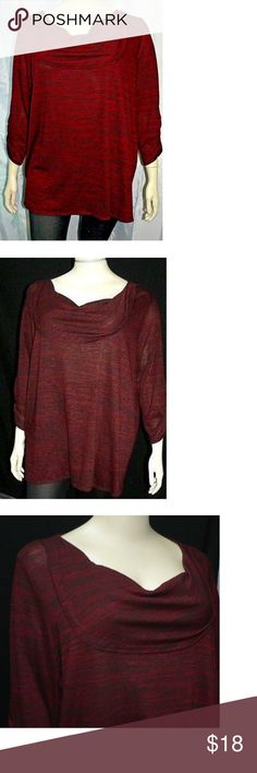 4X The Avenue Dark Red Top Wide Collar Gothic