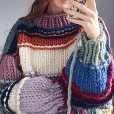 Sweater Knitting Patterns, Hand Knitting, Crochet Patterns, Crochet Clothes, Diy Clothes, Mode Streetwear, Crochet Fashion, Knitting Projects, Knit Crochet