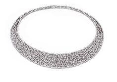 Colar em ouro branco com diamantes   FGBC1301