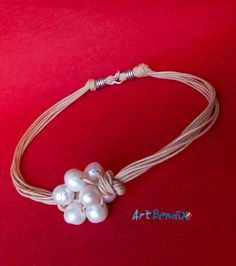 "Collar de perlas cultivadas ""Fresh water"" pearls necklace"