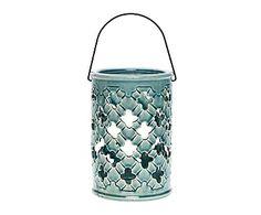 Farol de cerámica - azul