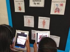 iTeach Human Body Systems Projects Using iMovie and Augmented Reality Teaching Technology, Technology Integration, Teaching Science, Life Science, Educational Technology, Teaching Ideas, Human Body Unit, Human Body Systems, 5th Grade Science