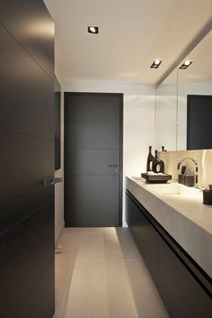 Luxury Master Bathroom Ideas is very important for your home. Whether you choose the Small Bathroom Decorating Ideas or Luxury Bathroom Master Baths Photo Galleries, you will make the best Luxury Master Bathroom Ideas Decor for your own life. Bathroom Doors, Bathroom Interior, Modern Bathroom, Small Bathroom, Bathroom Ideas, Minimal Bathroom, Bathroom Grey, Bathroom Trends, Bathroom Cleaning