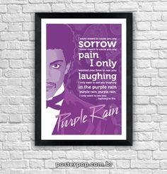 "Poster Prince ""Purple Rain"""