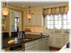 refrigerator and double ovens next to each other | Kitchen Cabinetry Design Online; concept for... Custom Cabinets to ...