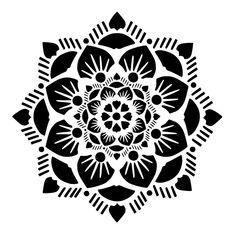 Mandala stencil 8 craft,fabric,glass,furniture,wall art up to - Women Art Cricut Stencils, Free Stencils, Stencil Templates, Stencil Designs, Stencil Table Top, Stenciled Table, Mandalas Painting, Mandalas Drawing, Dot Painting