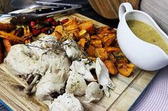 This roast chicken is cooked in your Thermo machine, yep the whole chook. It's juicy, tender and perfect!! All up it'll take you about 10 minutes to prep, then you can turn it on and walk away. Gotta Love That!!  We would love to know what you think by simply leaving a comment below and rating