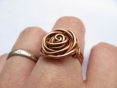 DIY wire rose ring   The DIY Adventures- upcycling, recycling and do it yourself from around the world. #rosewirerings