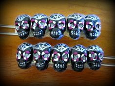 Day of the Dead sugar skull Barrette hair clip by missgutter, $9.00