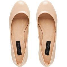 nude flats found on Polyvore