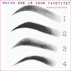 Pick a brow! Comment down below 1️⃣2️⃣3️⃣4️⃣ photo via @makeup.memes.life #makeu