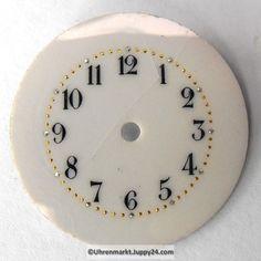 4 St. Emaille Zifferblätter für Taschenuhren, Zifferblatt, pocket Clock, Watches, Enamel, Watch, Wristwatches, Clocks, Clocks