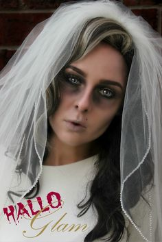 Corpse Bride Costume Wig #Long #Brown #Curly #Hair #Zombie #MakeUp #Halloween #Horror