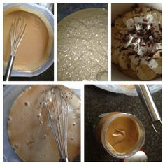 Senegalese dish Peanut butter/baobab fruit/Thiacry (millet couscous) milk, sugar, coconut, chocolate and banana