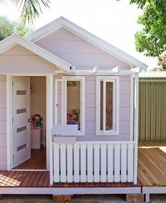 Cubbies with a designer edge from Home Sweet Cubby. Australian company taking the backyard cubby to the next level.