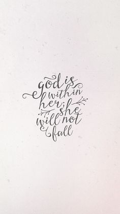 God is within her, s