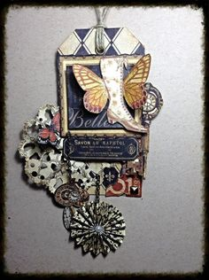 Great tag using Olde Curiosity Shoppe from Tati Scrap on our Ning gallery #graphic45 #tags