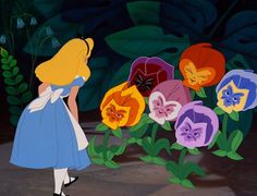Screencap Gallery for Alice in Wonderland Bluray, Disney Classics). Disney version of Lewis Carroll's children's story. Alice becomes bored and her mind starts to wander. She sees a white rabbit who appears to be in a Alice In Wonderland Flowers, Alice In Wonderland 1951, Adventures In Wonderland, Wonderland Party, Disney Love, Disney Magic, Disney Art, Alice Disney, Disney Pics