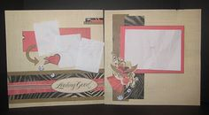 Roxie Stickease CTMH Scrapbooking Layout with roses and bling