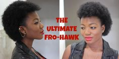 How to achieve the ultimate Fro-Hawk on a tinnie winnie afro (TWA). Enjoy :)