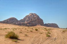 Driving Through Wadi Rum Desert in Jordan