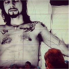 Today in the Dutch TV..Anton Corbijn showed this impressive photo of Dave...frightening     :((