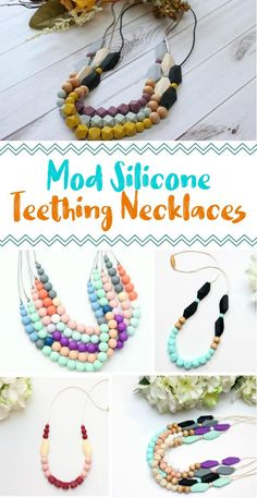 I need these!!! These teething necklaces would be perfect for my little baby girl. They are so cute and stylish too #ad #teething #momlife #momstyle